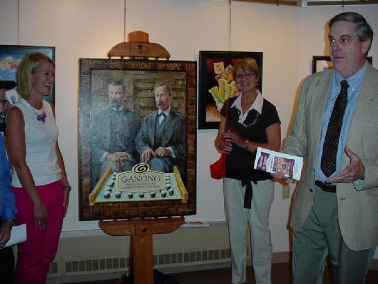 The GANONG BROTHERS portrait by Tom Brennan was unveiled by Bryanan & Diane Ganong